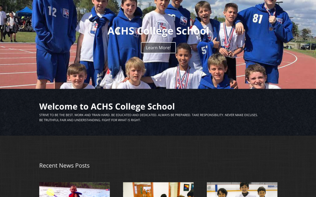NEW ACHS Website!